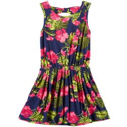 Poof Big Girls Tropical Floral Dress