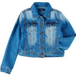 Vigoss Big Girls Faded Denim Jacket