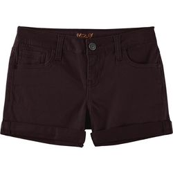 Vigoss Big Girls Solid Roll Cuff Hem Shorts