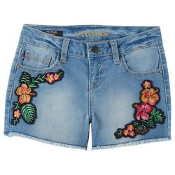 Vigoss Big Girls Jungle Floral Embroidered Denim Shorts