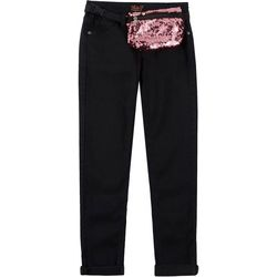 Vigoss Big Girls Sequin Fanny Pack Solid Jeans
