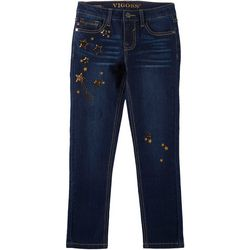 Vigoss Big Girls Celesti Star Denim Ankle Jeans