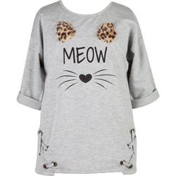 Speechless Big Girls Meow Leopard Ears Top