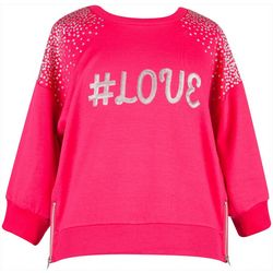 Speechless Big Girls Hashtag Love Sequin Top