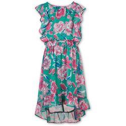 Speechless Big Girls Floral Hi/Low Dress