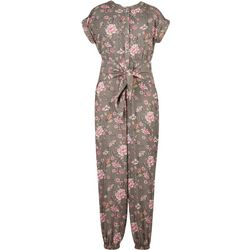 Speechless Big Girls Floral Tie Waist Jumpsuit