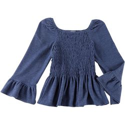 Speechless Big Girls Smocked Peplum Top
