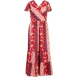 Speechless Big Girls Floral Tiered Maxi Dress