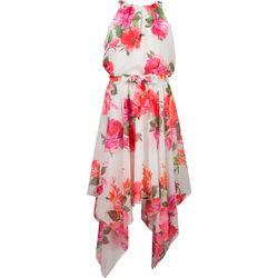Speechless Big Girls Floral Hanky Hem Dress