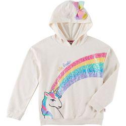Nickelodeon JoJo Big Girls Shine Bright Unicorn Hoodie