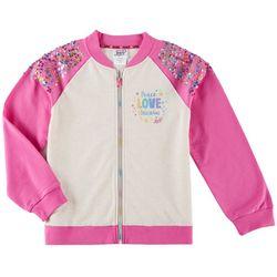 Nickelodeon JoJo Big Girls Peace Love Unicorns Jacket