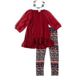 Forever Me Big Girls 3-pc. Lace Front Tunic