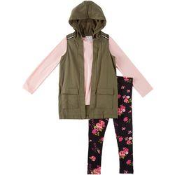 Forever Me Big Girls 4-pc. Hooded Vest Set
