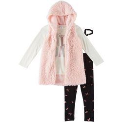 Forever Me Big Girls 3-pc. Hooded Sherpa Vest Set