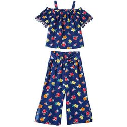 Forever Me Big Girls 2-pc. Floral Top and