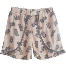 Daylight Big Girls Pineapple Print Shorts