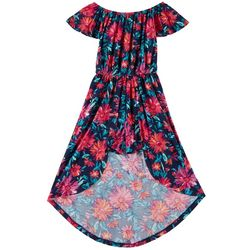 1st Kiss Big Girls Painted Floral Walkthrough Romper