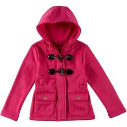 Pink Platinum Big Girls Solid Toggle Hoodie