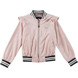 Pink Platinum Big Girls Velvet Embellished Jacket