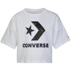 Converse Big Girls Paint Splatter Boxy T-Shirt