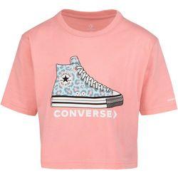 Converse Big Girls Leopard Sneaker Print Tee