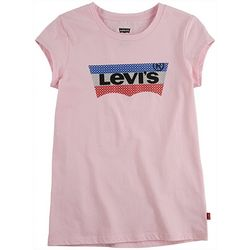 Levi's Big Girls Sequined Batwing Logo T-shirt