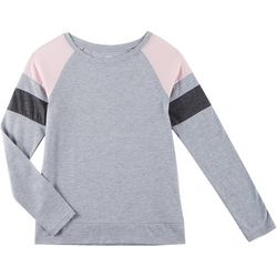 French Toast Big Girls Colorblock Raglan Long Sleeve Top