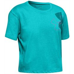 Under Armour Big Girls UA Branded Logo Tilt T-Shirt