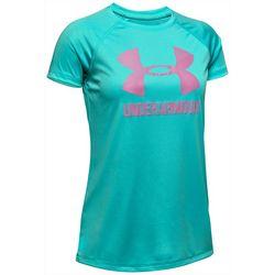 Under Armour Big Girls UA Big Logo Solid T-Shirt