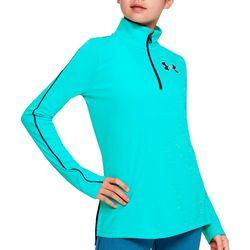 Under Armour Big Girls UA Tech Half Zip Long Sleeve Top