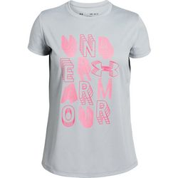 Under Armour Big Girls UA Linear Wordmark T-Shirt