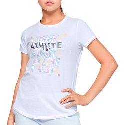 Under Armour Big Girls UA Athlete T-Shirt