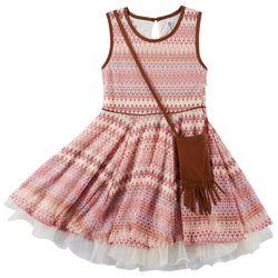 Beautees Big Girls Aztec Print Sleeveless Dress