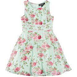 Trixxi Big Girls Sleeveless Floral Dress