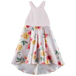 Trixxi Big Girls Floral High-Low Sleeveless Dress