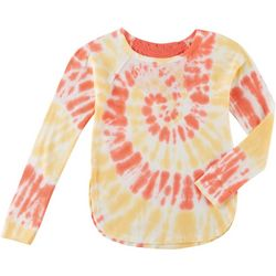 No Comment Big Girls Long Sleeve Tie Dye Top