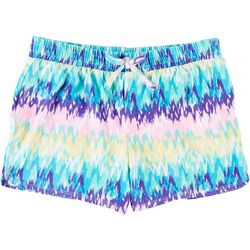 Green Soda Big Girls Ikat Print Shorts