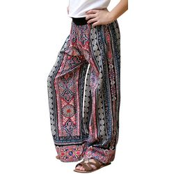 Angie Girl Big Girls Border Print Palazzo Pants