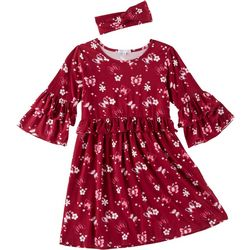 Freestyle Big Girls Butterfly Ruffle Dress