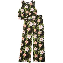 Derek Heart Girl Big Girls 2-pc. Hibiscus Pant Set