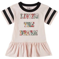 Kensie Girl Big Girls Living The Dream Varsity T-Shirt Dress