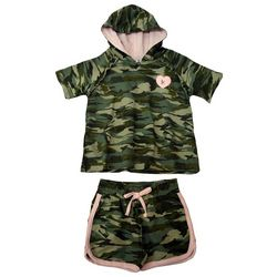 Kensie Girl Big Girls 2-pc. Suzette Camo Hooded