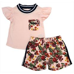 Kensie Girl Big Girls Shayla Floral Print Shorts Set