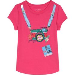 Nautica Big Girls Travel Camera T-Shirt