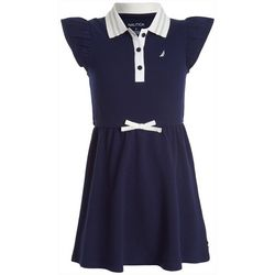 Nautica Big Girls Button Up Collar Dress