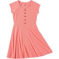 Star Ride Big Girls Solid Ribbed Dress