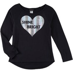 RMLA Big Girls Shine Bright Foil Heart T-Shirt