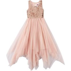 RMLA Big Girls Sequin Mesh Sleeveless Dress