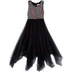 RMLA Big Girls Rainbow Sequin Mesh Dress