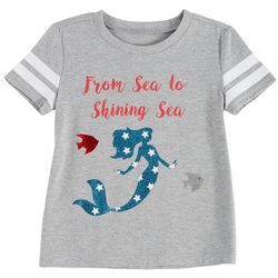 It's Our Time Big Girls Sea To Shining Sea USA Mermaid Top